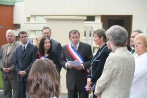 Inauguration de la maison de l'enfance par Philippe Autrive de la Ferté Alais