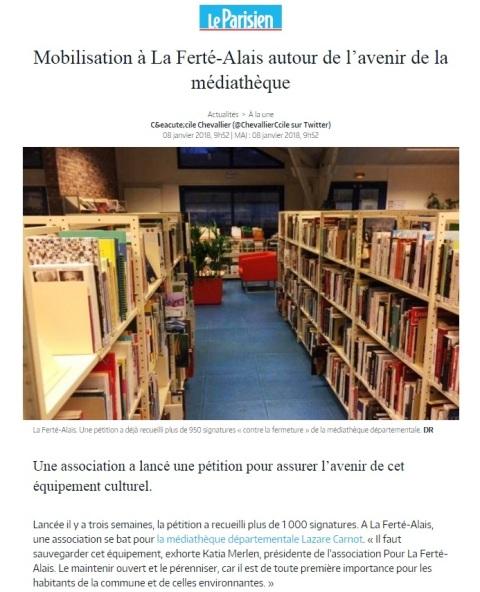 mediatheque la ferte alais du sud Essonne
