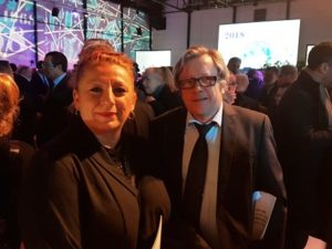 katia Merlen et philippe Autrive aux voeux du conseil départemental de l'essonne