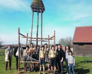katia merlen construction du phare d'alexandrie à la ferme de la ferté alais