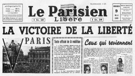le-parisien-8-mai-1945